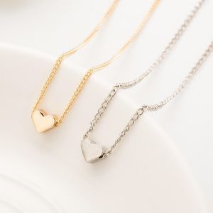 Jewelry - Gold and Silver Tiny Heart Necklace Trendy
